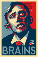 ZOMBAMA - BRAINS by pop-monkey