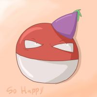 Voltorb es happy by oranlarvitar