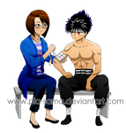 Commission - Manami x Hiei by Pia-sama