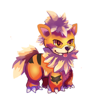 Growlithe by LizardonEievui13