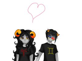 Sollux and Aradia-Homestuck by awkwardwaffle