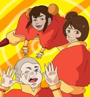 Jinora, Ikki, and Meelo by MissMaryElla