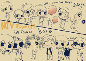 match up b1a4 and block b by megu-megu