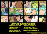 Space Dandy Icon Set by ChibiForte101