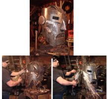 275 lbs steel Doc Doom WIP by BROKENHILL