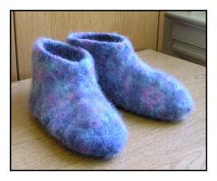 Felt Slippers by MuseSusan