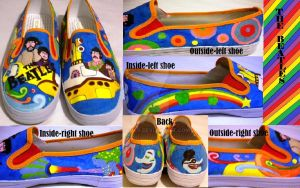 The Beatles Shoes by Rosemev