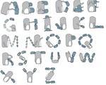 Penguin Alphabet by xPlacebo