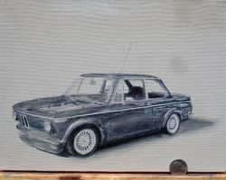 1972 BMW 2002 Oilpainting wip3 by Z-Vincent