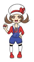 sticker female trainer SS HG color by NishiChan