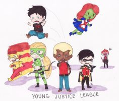 Mini Young Justice by AironKennell
