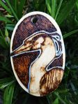 Mr Heron wood burning by BumbleBeeFairy