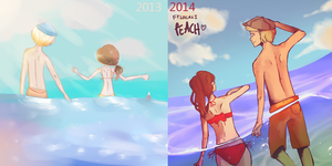 thousand years / peach (before after) by fylocali