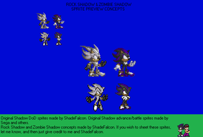 Rock Shadow and Zombie Shadow - Sprites Preview by TuffTony