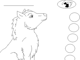 Wolf Lineart 2 Ref by SwedenGirl