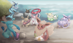 Eevolution Beach Time by Pikarty10