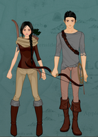 Katniss And Gale by GeekHipsterReader
