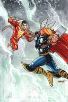 Shazam Vs Thor: Lightening Kings by RAHeight2002-2012