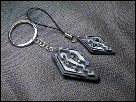 The Elder Scrolls V: Skyrim Keychan and Phonestrap by CookingMaru