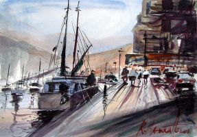Marine watercolour by ricardomassucatto