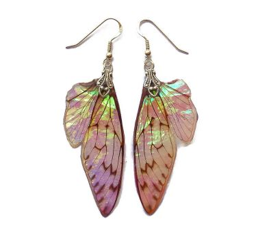 Lotus Fairy Wing Earrings by KristenJarvisART