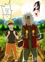 Naruto and Jiraya Training by Celious