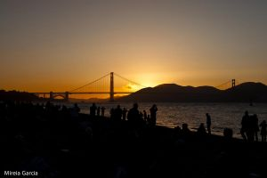 Golden Gate sunset by trencapins
