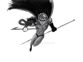 robin digital painting step 3 by marty0x