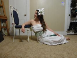 Mucha Inspired - Lily Reclined 15 by HiddenYume-stock