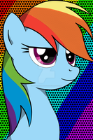 Rainbow Dash popart by MermaidSoupButtons
