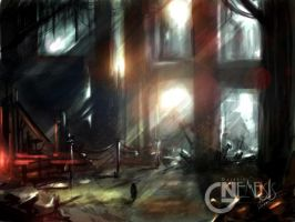 Lucis futuri, concept of an abandoned factory by Chimerum