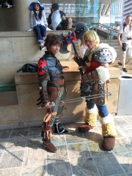 Hiccup and Astrid by Slapthefatcat