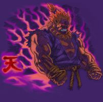 Akuma colored by santivill