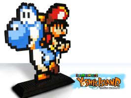 Light Blue Yoshi Lego Version by bersi4kzero
