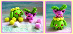 Playtime: Hoppip + Skiploom by caffwin