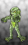 Gill Man- Creature From The Black Lagoon -Color by KeresaLea