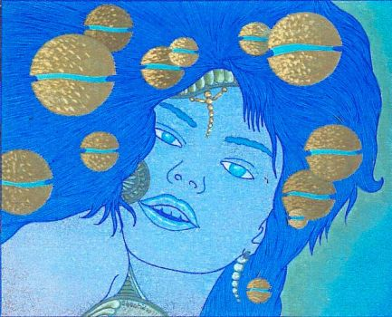 Magicienne aux spheres (planete Saa) by Shantidas