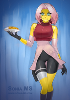 Commission: Jokerisdaking - Sakura as curry zombie by SoniaMatas