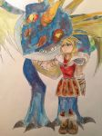 Astrid and Stormfly by amzzz123