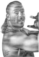 TNA Rob Van Dam Pencil Drawing by Chirantha