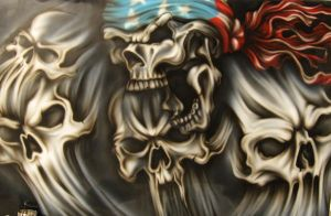 Patriotic Skull 2 by airdiva