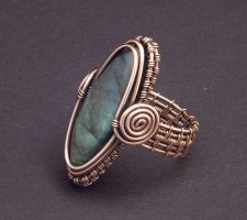 Copper Labradorite Ring by WiredElements