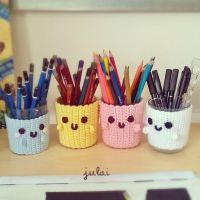 Kawaii Crochet Covercup :3 by Tofe-lai