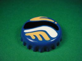 Blue, black, white and yellow badge. by elniniodelaschapas