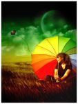 Rainbow Umbrella by Emindeath