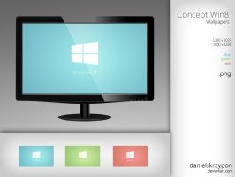 Windows 8 Concept Wallpapers Pack by danielskrzypon
