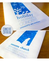 holiday concert program. by efftee