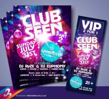 Club Seen Flyer and Ticket by AnotherBcreation