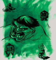Hulk sketches by bolognafingers