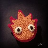 STUDIO GHIBLI: Calcifer Amigurumi by Tofe-lai